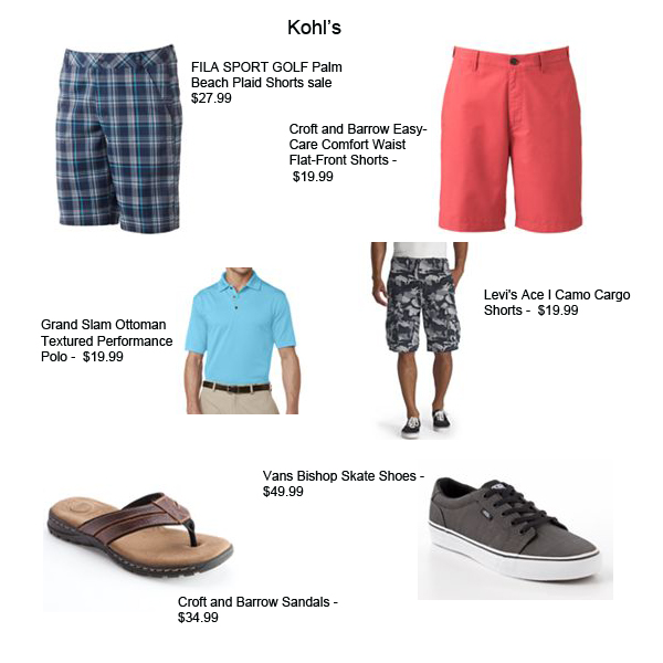 mens shorts kohls